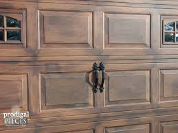 remodelaholic faux wood carriage garage door tutorial