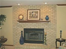 paint ideas for red brick fireplace colors around old