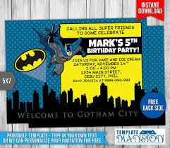 batman invitation batman birthday invitation by templatemansion