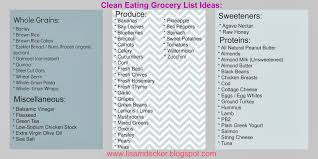 clean eating grocery shopping tips and lists