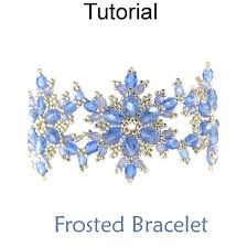 bracelet with beads patterns images Beaded frosted snowflake bracelet downloadable beading pattern jpg