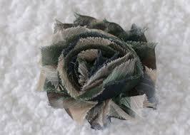 camo flowers shabby chiffon flowers 2 5 printed camo 0 35 bowtique