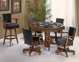 Poker Table Chairs With Casters by Flip Top Card Table With Chairs Traditional Poker Table For The
