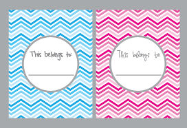 9 best images of pink and blue chevron binder cover printables