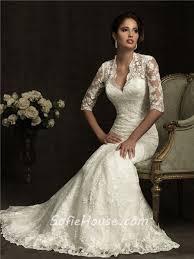 ivory lace wedding dress slim a line v neck sheer back ivory lace wedding dress with sleeves