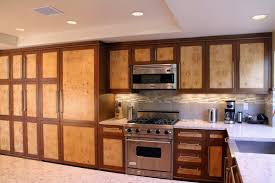 modern kitchen burl maple custom kitchen cabinet image gallery