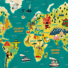 Europe World Map by World Map Paul Thurlby