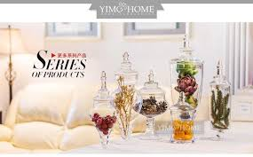 Clear Glass Vases With Lids 3pcs Set Large Glass Candy Jar With Glass Lids Buffet Jar For