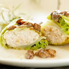 cabbage rolls with meat stuffing and wild mushroom sauce recipe