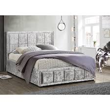 ottoman beds with mattress hannover crushed velvet ottoman bed next day delivery hannover