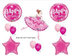 Ballerina Decorations Amazon Com Pink Ballerina Happy Birthday Party Balloons