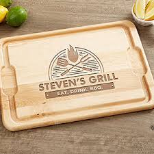 personalized grill platter personalized bbq cutting board 12x27 the grill for the home