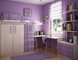 light purple color of wall paint in teenage room ideas with storey