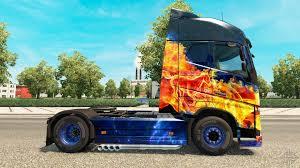volvo 880 truck fire skin for volvo truck for euro truck simulator 2