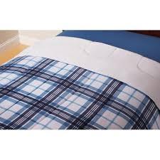 twin bedding set blue plaid comforter reversible sheets size boys