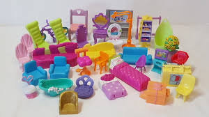 Dolls House Furniture Mattel Polly Pocket Doll House Furniture Bedroom Bed Chair Stool