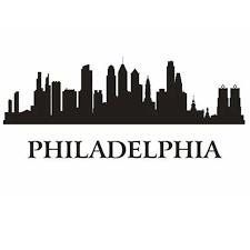 online shop philadelphia city decal landmark skyline wall stickers