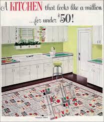 1949 bird linoleum mid century kitchen design retro kitchens