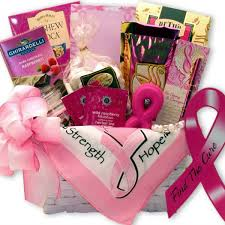 cancer gift baskets and strength breast cancer basket