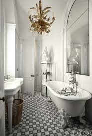 bathroom classic black and white bathroom floor tile ideas black