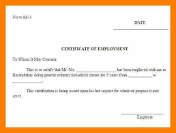 9 certificate of employment template word weekly template