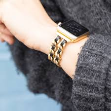 chain link bracelet watches images Bezels bytes chainlink leather apple watch band jpg