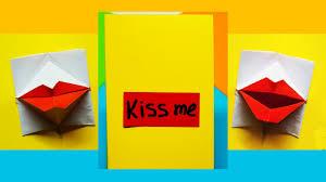 greeting card valentine u0027s day diy origami kissing lips u0026 secret