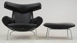 paddle8 u0027ox chair u0027 with ottoman hans wegner