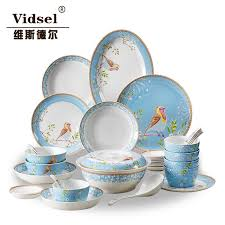 dinnerware set dishes set high grade porcelain tableware coverall