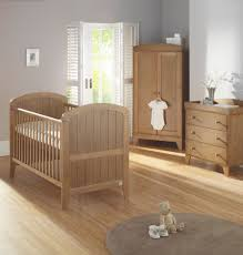 Nursery Furniture Set by Lollipop Lane Oakhill 3 Piece Room Set Oak Finish Cot Bed
