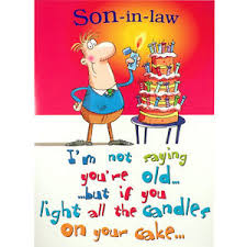 son in law birthday card funny rude humorous happy greetings card