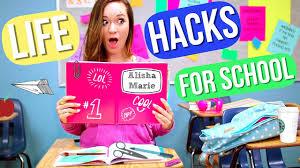 diy hacks youtube back to school life hacks alisha marie youtube