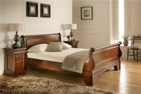 Sleigh Bed King Size Bedroom Design Toulouse Mahogany Wooden Sleigh Bed King Size