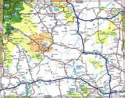 Map Of Montana And Wyoming by Large Detailed Tourist Map Of Wyoming With Cities And Towns