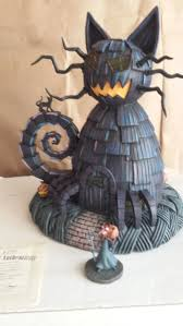 halloween village accessories nightmare before christmas house hawthorne village cat house