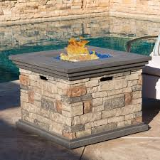 Fire Pit With Lava Rocks - chesney 32 inch outdoor square propane fire pit with lava rocks