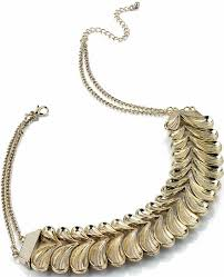 gold colour chain necklace images Clam gold coloured costume jewellery chain necklace jpg