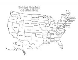Maps United States Outline Map Of The Us With State Names Businessontravel Com