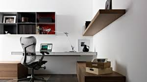 Office Decoration Simple And Organized Home Office Decoration Idea With Wall Mounted