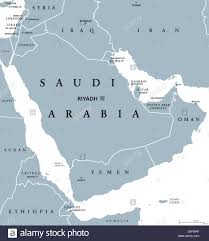 Middle East Map Labeled by Saudi Arabia Political Map With Capital Riyadh Kingdom And Arab