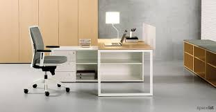 Uk Office Desks Oak And Walnut Office Desks Wood Veneer Desks Spaceist Office