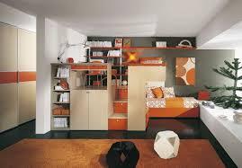 bedroom orange beige modern stained solid wood bunk bed standard