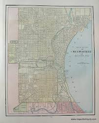 Map Od Map Of The City Of Milwaukee And Bay View Wis Antique Maps And