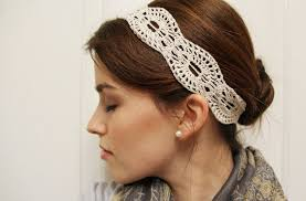 lace headband crochet pattern lace headband instant
