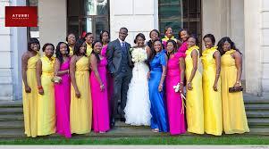 bridesmaids dresses wedding colours colour blocking ideas