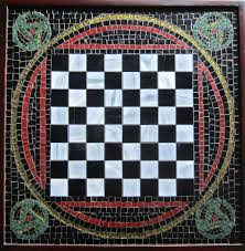 Glass Chess Boards Custom Made Chess Board Made With Art Glass Mosaic By Caron Art