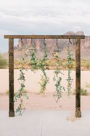 wedding backdrop greenery picture of geometric desert wedding arbor with hanging greenery