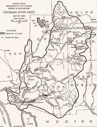 Map Of The Colorado River by Imagery And Cartography
