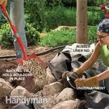 How To Build Backyard Pond by Build A Backyard Waterfall And Stream Family Handyman