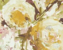 Peach Floral Curtains Peach Floral Fabric Etsy